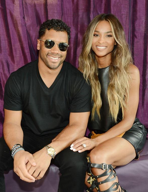 Ciara with Fiancé Russell Wilson and Dash Berlin at Marquee Dayclub Season Grand Opening