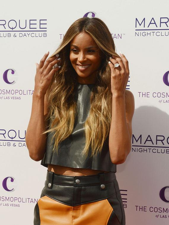 Ciara on Red Carpet at Marquee Dayclub