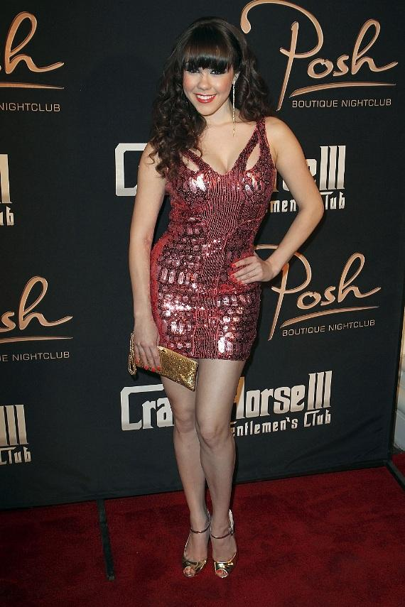 Claire Sinclair posed on red carpet