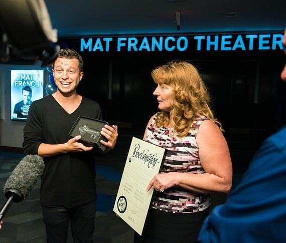 Clark County Commissioner Kirkpatrick presents Mat Franco Day Proclamation