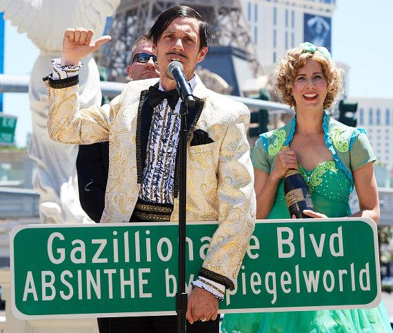 Clark County Renames The Strip 'Gazillionaire Blvd.' in Celebration of ABSINTHE's 7th Anniversary in Las Vegas