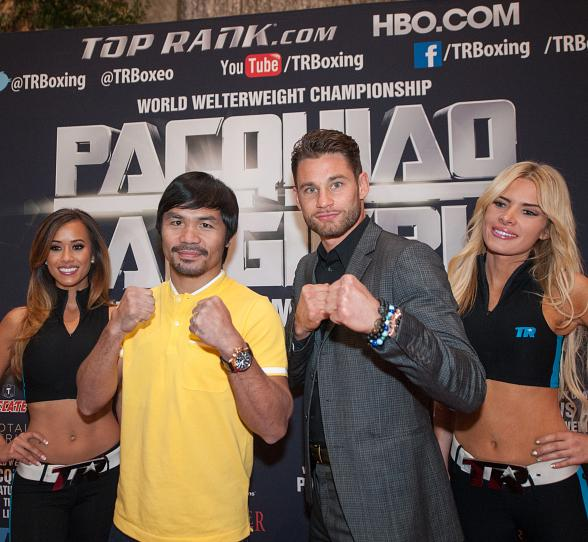 Clash In Cotai 2 Fighters Manny Pacquiao and Chris Algieri Greeted by Thousands of Fans at The Venetian