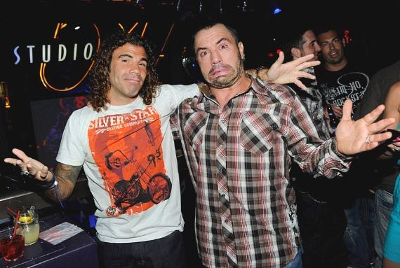 Clay Guida and Joe Rogan at Studio 54, Las Vegas