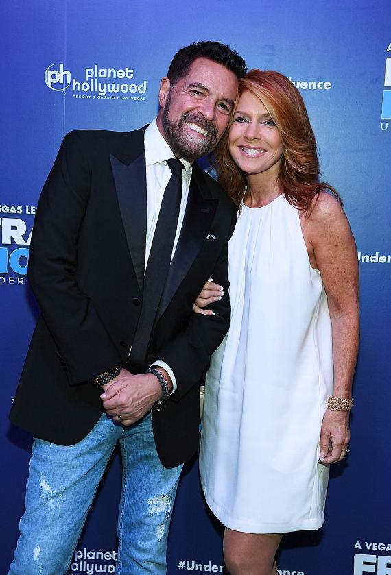 Clint Holmes and wife Kelly Clinton-Holmes at Opening Night of FRANKIE MORENO - UNDER THE INFLUENCE at Planet Hollywood Resort & Casino