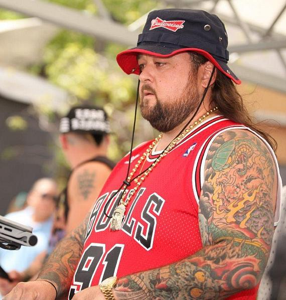 Chumlee spinning at Palms Pool & Dayclub