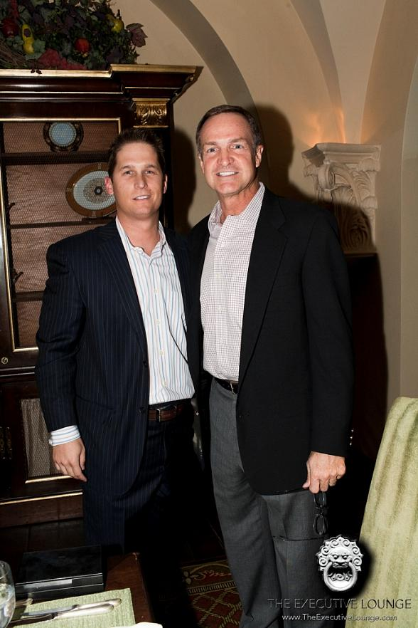 Coach Lon Kruger with Eamon Springall, president of The Executive Lounge