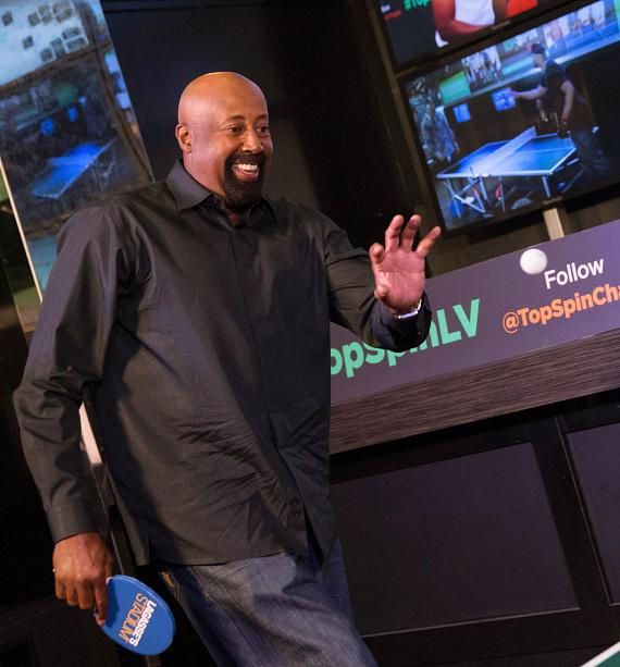 Coach Mike Woodson Plays in the 2015 TopSpin Charity Ping Pong Tournament