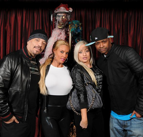 Nicole 'Coco' Austin and Ice-T at the Scariest Place on The Strip, Eli Roth's Goretorium