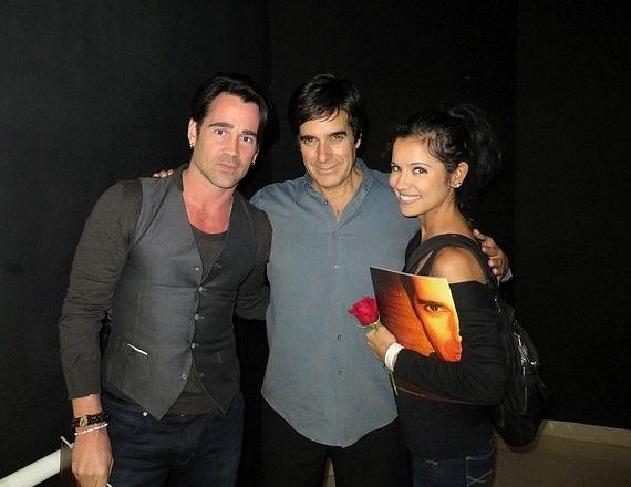 Colin farrell and his sister claudine with david copperfield colin farrell and his sister claudine with david copperfield m4hsunfo