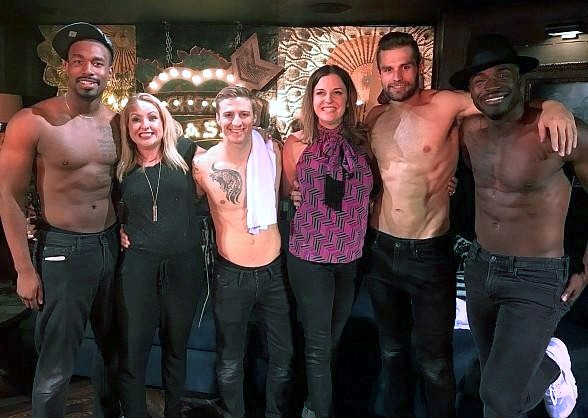 """I Mom So Hard"" Comedians Kristin Hensley and Jen Smedley at ""Magic Mike Live"" at Hard Rock Hotel Las Vegas"