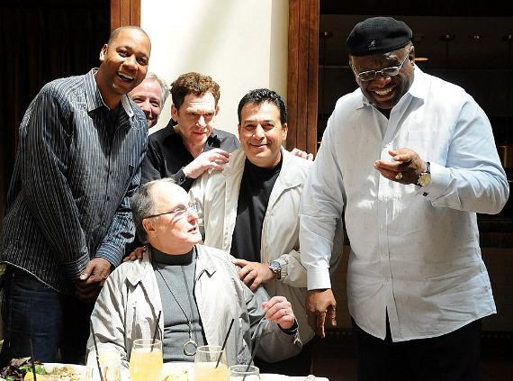 Comedians Mark Curry, Ron Morey, Charlie Fleischer, Vinnie Favorito and George Wallace share a few laughs with Improv Founder Budd Friedman