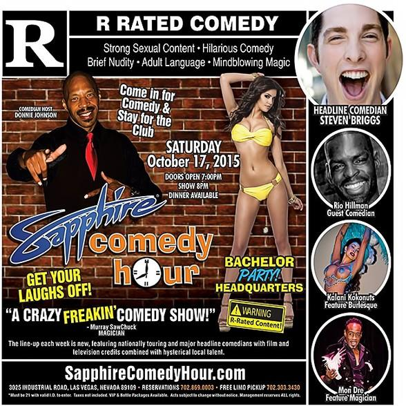 Steven Briggs to Headline Sapphire Comedy Hour, Saturday October 17 with Donnie Johnson, Rio Hillman, Kalani Kokonuts and Mon Dre!