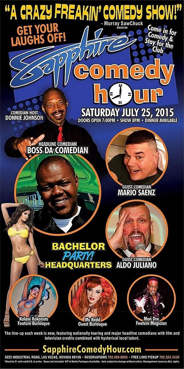 Boss Da Comedian to Headline Sapphire Comedy Hour, Saturday July 25