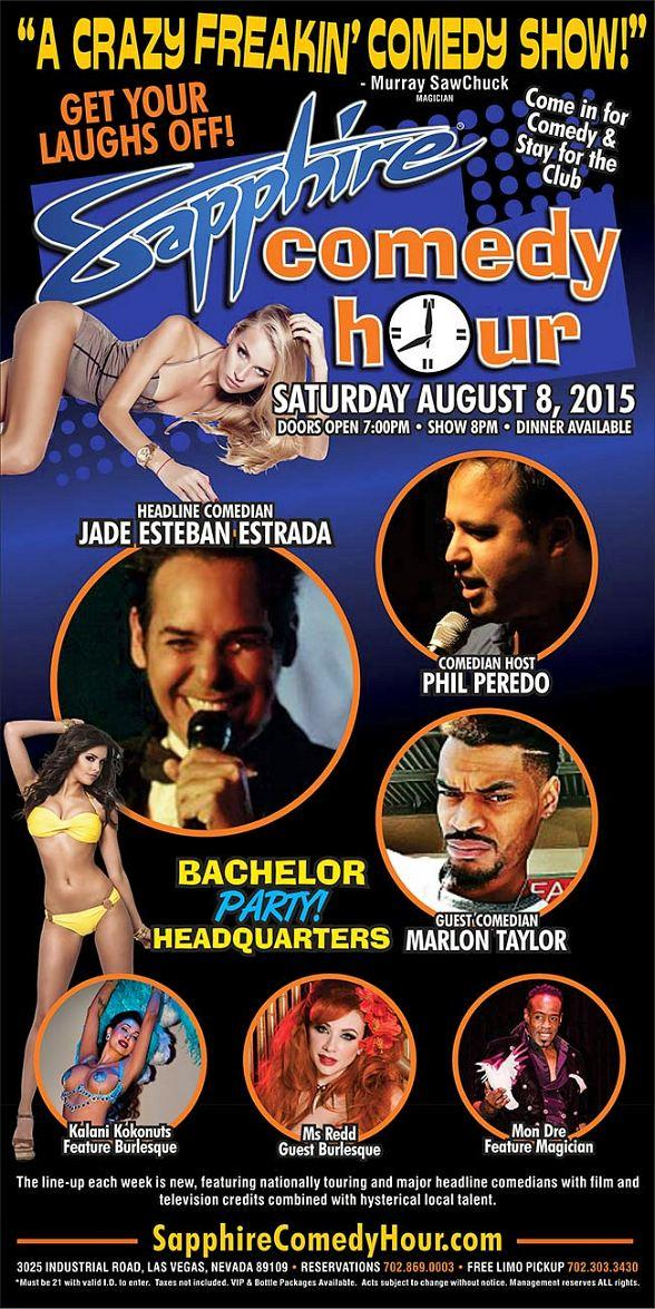 Jade Esteban Estrada to Headline Sapphire Comedy Hour, Saturday August 8