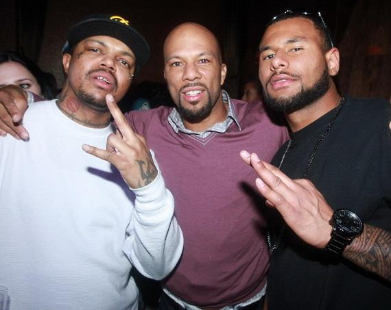 DJ Paul, Common, and Louis Murphy at Vanity