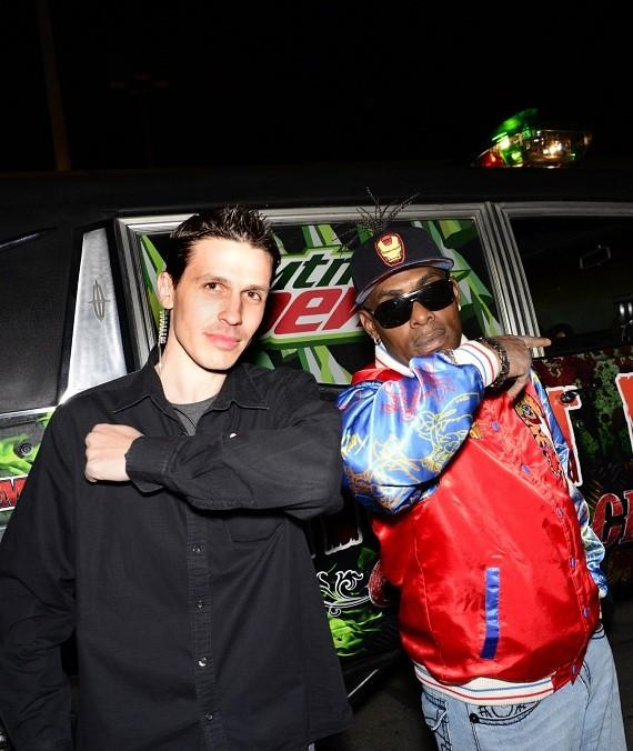 Fright Dome owner Jason Egan and Coolio