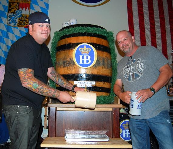 Corey and Rick Harrison of Pawn Stars at Hofbräuhaus Las Vegas
