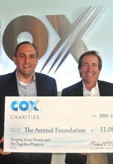 "Cox Charities Grants The Animal Foundation $11,000 to Help ""Keep Every Person and Pet Together"""