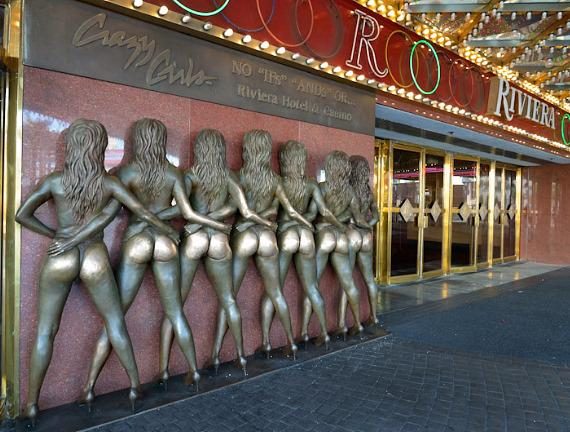 The famous Crazy Girls bronze sculpture at The Riviera