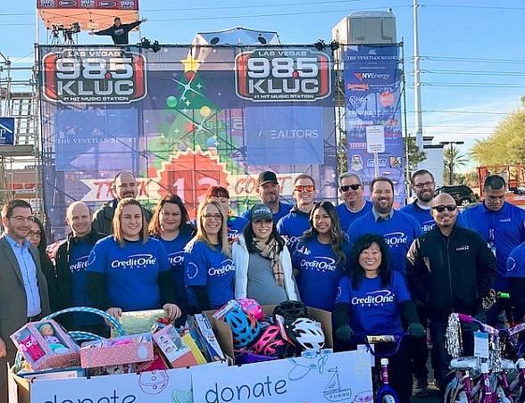 Credit One Bank Donates Time and Resources to the 21st Annual 98.5 KLUC Chet Buchanan Show Toy Drive