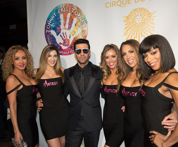 "Criss Angel and the Ladies of FANTASY on the Gold Carpet at Criss Angel ""HELP"""