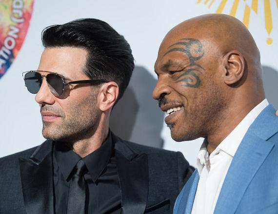"Criss Angel and Mike Tyson on the Gold Carpet at Criss Angel ""HELP"""