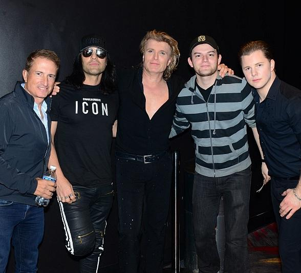 Criss Angel Attends Hans Klok: The World's Fastest Magician at Excalibur Hotel & Casino