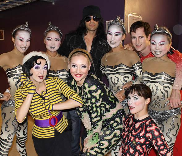 Criss Angel visits IRIS from Cirque du Soleil at Kodak Theatre in Los Angeles