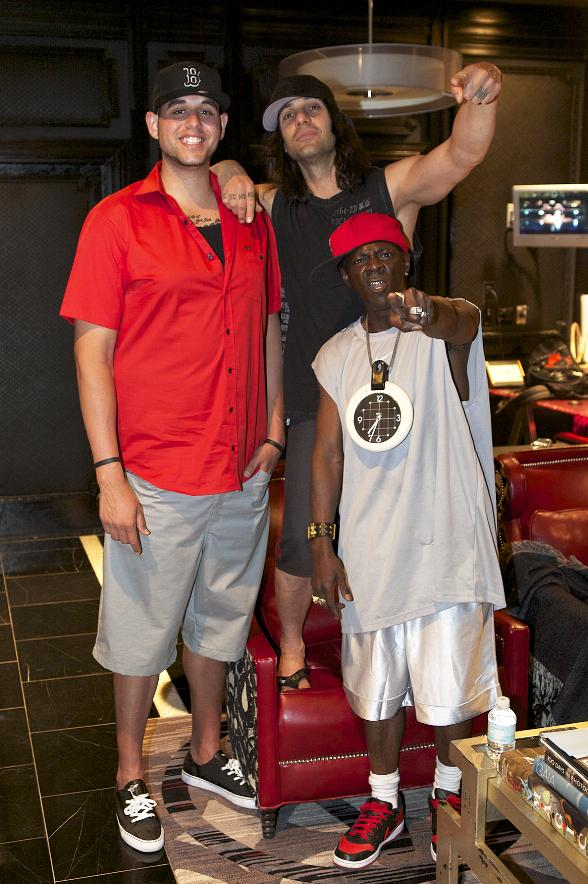 Flavor Flav and Omar Houston Visit Criss Angel at at Luxor Hotel in Las Vegas