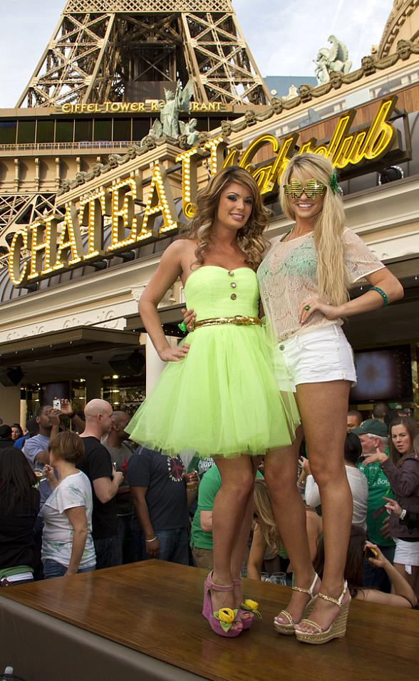 Laura Croft and Angel Porrino Celebrate St. Patrick's Day at Chateau Beer Garden