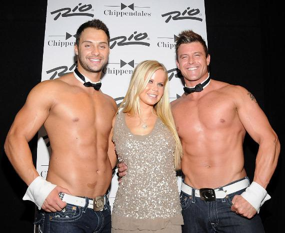 Actress Crystal Hunt visits Chippendales