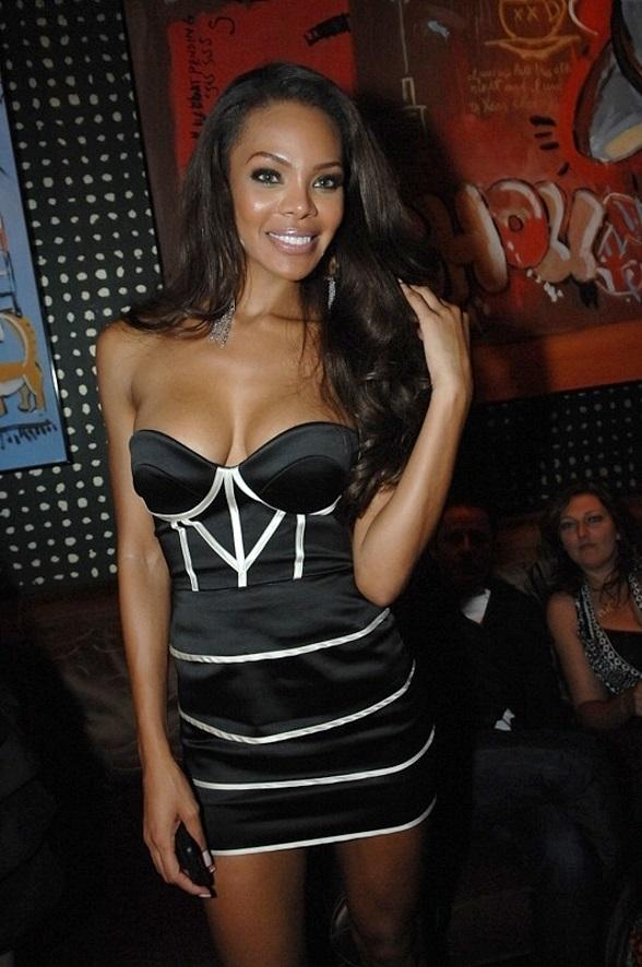 Former Miss USA 2008 Crystle Stewart at Blush Boutique Nightclub