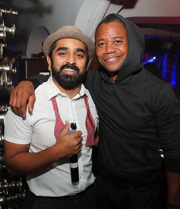 Mindy Kaling and Cuba Gooding Jr. Party at Hyde Bellagio, Las Vegas