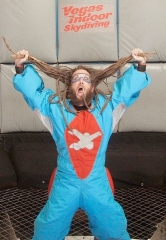 "Korn's Brian ""Head"" Welch at Vegas Indoor Skydiving"