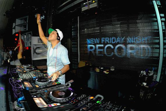 DJ Chuckie spins at Marquee