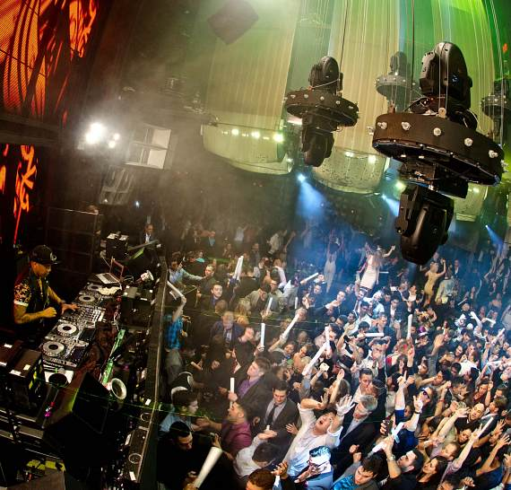 DJ Chuckie spins at Marquee NYE celebration
