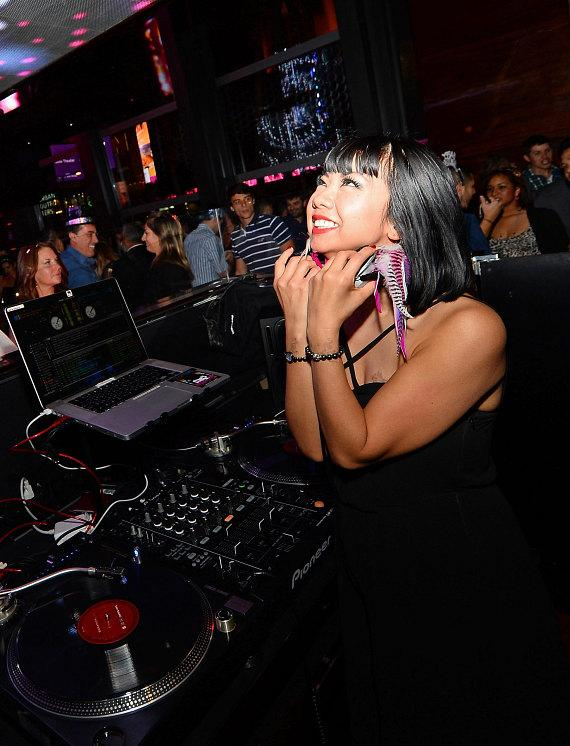 DJ Miss Joy spins at BOND on New Year's Eve inside The Cosmopolitan of Las Vegas