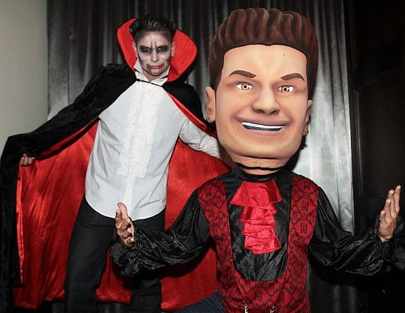 DJ Pauly D poses with his big head as he hosts the Sinner's Ball at Vanity Nightclub