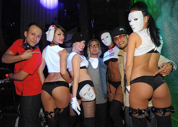 DJ Vice, JabbaWockeeZ and Marquee go go dancers