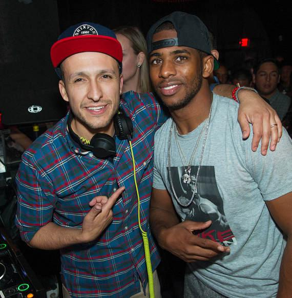 DJ Vice and Chris Paul at LAVO