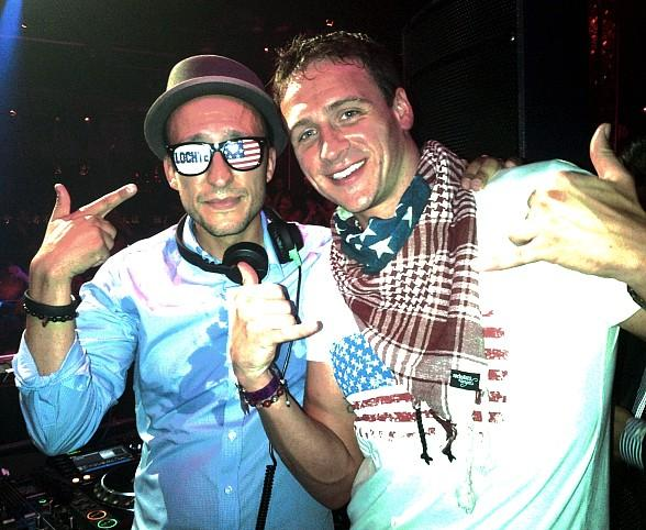 DJ Vice and Ryan Lochte at TAO