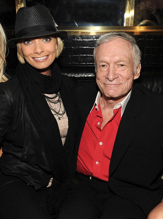 Jaime Pressly and Hugh Hefner