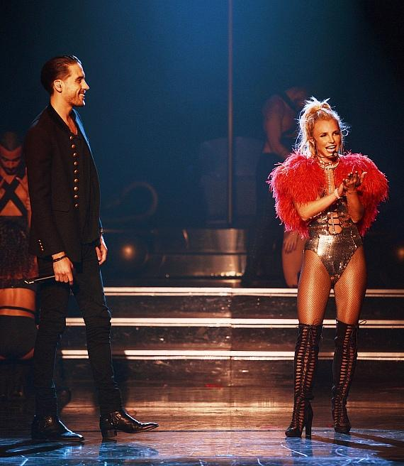 "G-Eazy Performs with Britney Spears at ""Britney: Piece of Me"" at Planet Hollywood Resort & Casino"