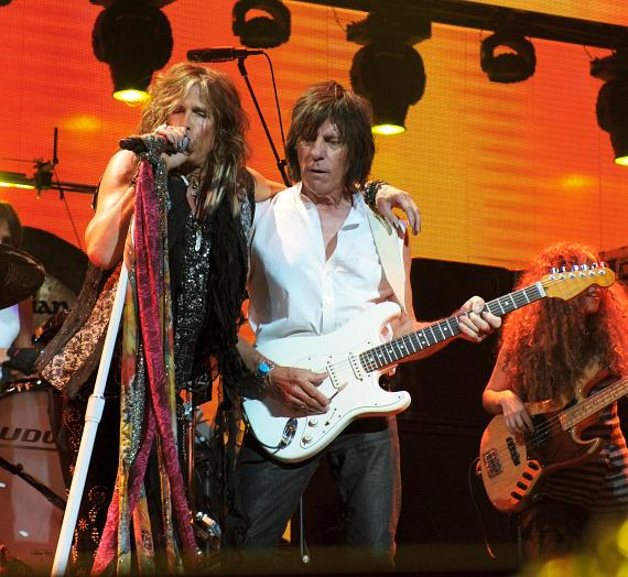 Steven Tyler and Jeff Beck perform at iHeartRadio Music Festival in Las Vegas