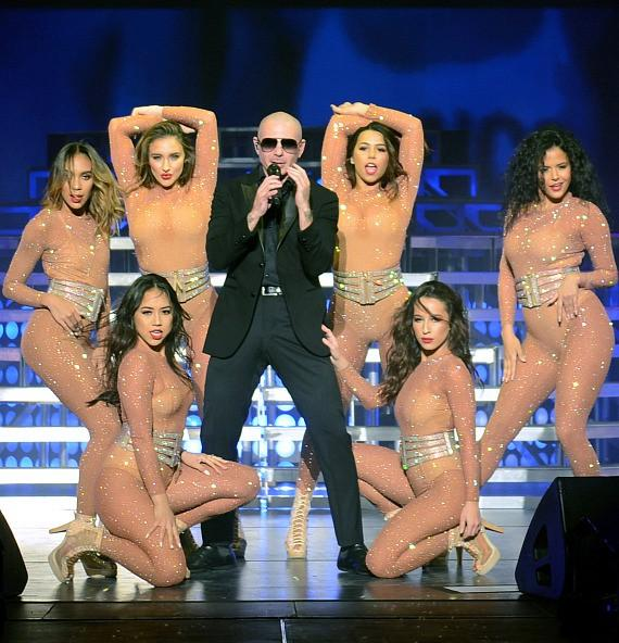 """Pitbull performs """"The Time of Our Lives Las Vegas"""" at The AXIS at Planet Hollywood Resort & Casino"""