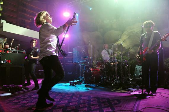 Collective Soul performs at Friday Night Live at The Beach Club at Hard Rock Hotel