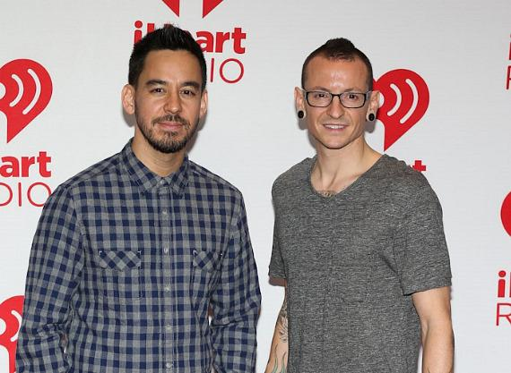 Mike Shinoda and Chester Bennington of Linkin Park