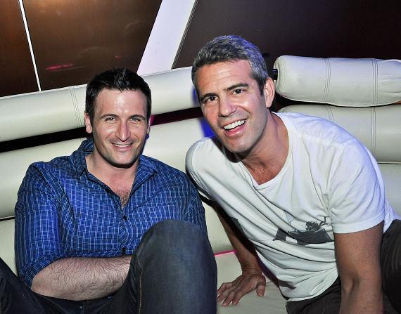 Andy Cohen (right) with friend at REVO