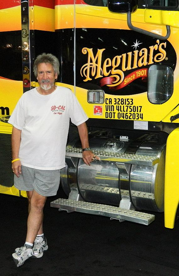Nick Kallos in the Meguiars display space in Barrett-Jackson Collector Car Show in Las Vegas