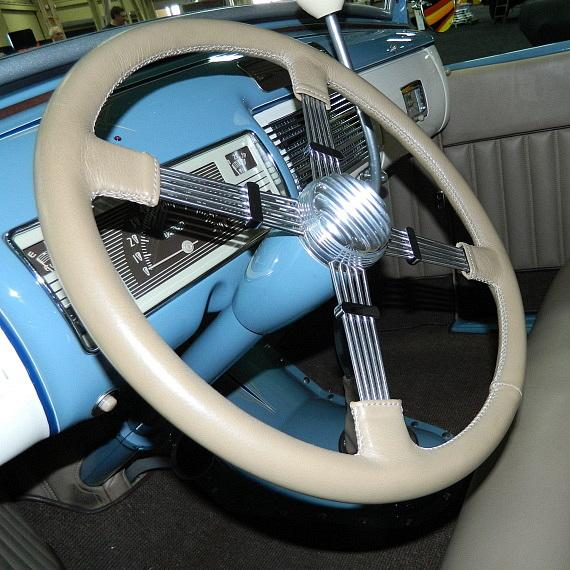 "Interior shot of ""The Contender"" 1929 Ford Model A Roadster at Barrett-Jackson"
